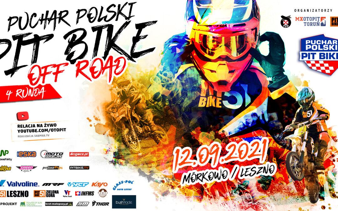 Mórkowo 2021: Przedostatnia runda Pucharu Polski Pit Bike Off-Road
